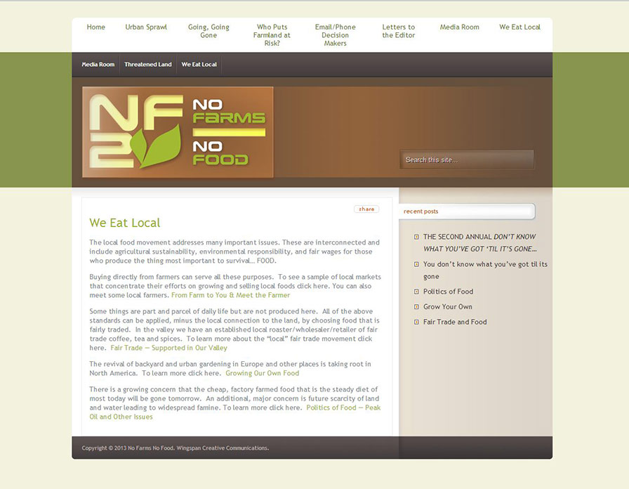 nofarmsnofood-website